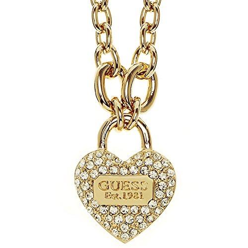 Guess Damen-Kette mit Anhänger Messing teilvergoldet Zirkonia gold 50 cm - UBN21581 thumbnail