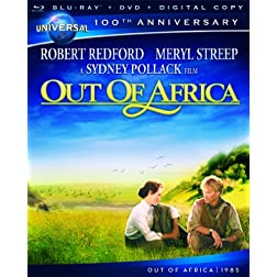 Out of Africa [Blu-ray + DVD + Digital Copy] (Universal's 100th Anniversary)