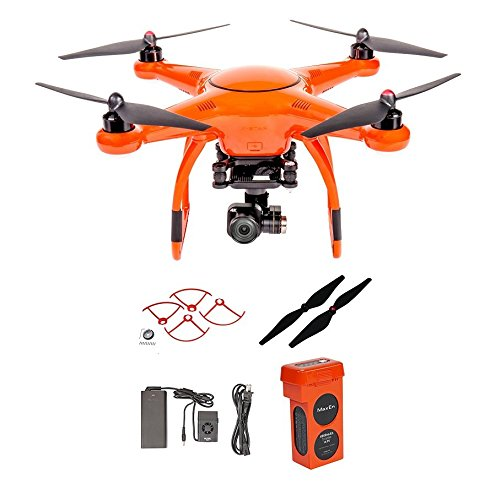Autel X-Star Premium Drone W/ 4K Camera, Propeller Guards, Replacement Propellers & X-Star Battery (Orange)