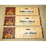 SSF's Ambar Wood Masala Agarbatti/ Incense - 50 Grams X 3 Pcs