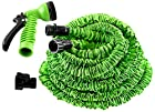 Hosem(Tm)-100 Ft- Expandable Garden Hose + 7 Function Spray Nozzle and Shut-off Valve, Lightweight