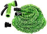 Hosem(Tm)-100 Ft- Expandable Garden Hose + 7 Function Spray Nozzle and Shut-off Valve, Lightweight