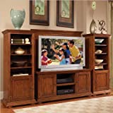 Home Styles Furniture Homestead 4 PC Wood Entertainment Center in Distresse ....