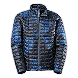 The North Face ThermoBall Full Zip Jacket (X-Large, Cosmic Blue Brush Stroke Print)