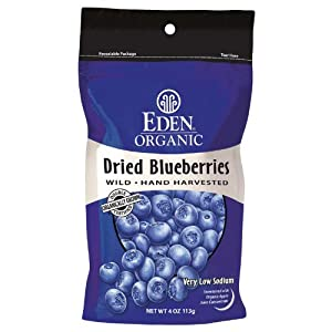 Eden Foods Organic Dried Wild Blueberries -- 4 oz