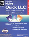 Nolo's Quick LLC: All You Need to Know About Limited Liability Companies (0873379292) by Anthony Mancuso