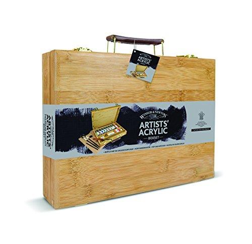 W&N Artist Acrylic Bamboo Box Set