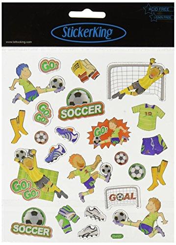 Multi-Colored Stickers-Soccer