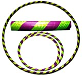 Pro Hula Hoops: Travel Weighted Hula Hoop - Hula Hoops For Exercise, Dance & Fitness! (39'-660g) NO Instructions Needed! (Purple/UV Yellow)