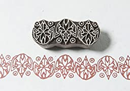 Blockwallah Ethnic Border Wooden Block Stamp