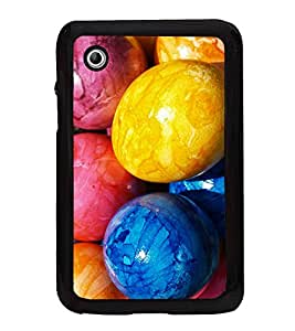 Colourful Easter Eggs 2D Hard Polycarbonate Designer Back Case Cover for Samsung Galaxy Tab 2 :: Samsung Galaxy Tab 2 P3100