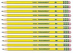 Dixon Ticonderoga Woodcase Pencil - 12 Per Pack (Yellow Barrel)