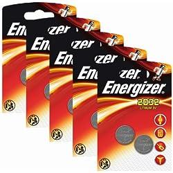 Energizer - Pilas de litio CR 2032 (3 V, 5 paquetes x 2 unidades)