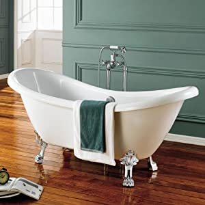 Edward Traditional Double Slipper Roll Top Bath With Dragon Feet IBath Amaz
