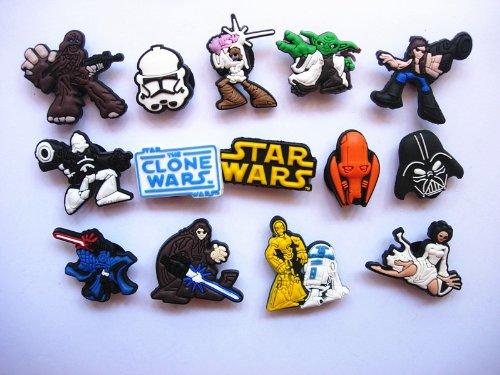 14 Star Wars & Clone Wars Shoe Charms Fits Jibbitz Croc Shoes & Wristband Bracelets - 1