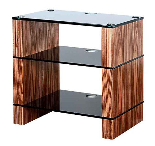 Cheap BLOK STAX DeLuxe 300 Three Shelf Zebrano Hifi Audio Stand & AV TV Furniture Rack Unit (B008AHJ3YE)
