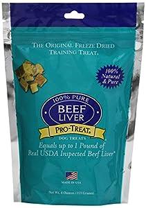 Stewart Pro-Treat Freeze Dried Liver Dog Training Treat, 4-Ounce