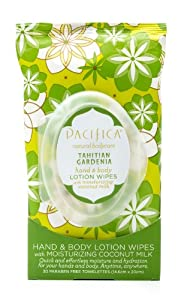 Pacifica Tahitian Gardenia Hand & Body Lotion Wipes from Pacifica