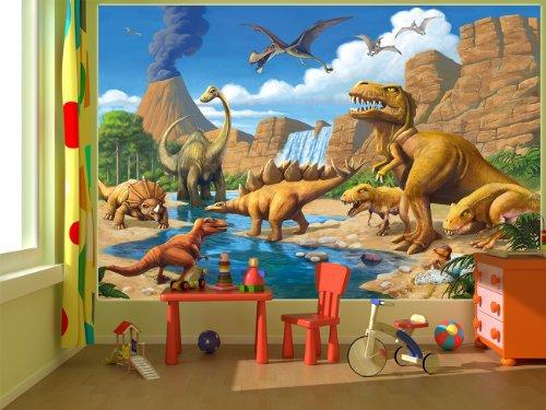Dinosaur wall mural for Decor mural xxl 4 murs