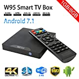 Winbuyer W95 Android TV Box Android 7.1 Smart box tv 64bit Quad Core CPU 1GB +8GB 4K UHD WiFi & LAN VP9 DLNA H.265