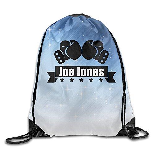 クール 男女兼用 格闘家 ジョン ジョーンズ 巾着リュックサック アウトドア ゴルフ 折りたたみ式 White