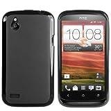 mumbi silicone TPU Coque HTC Desire X - Silicone Etui Housse Étui Protecteur Case Noir