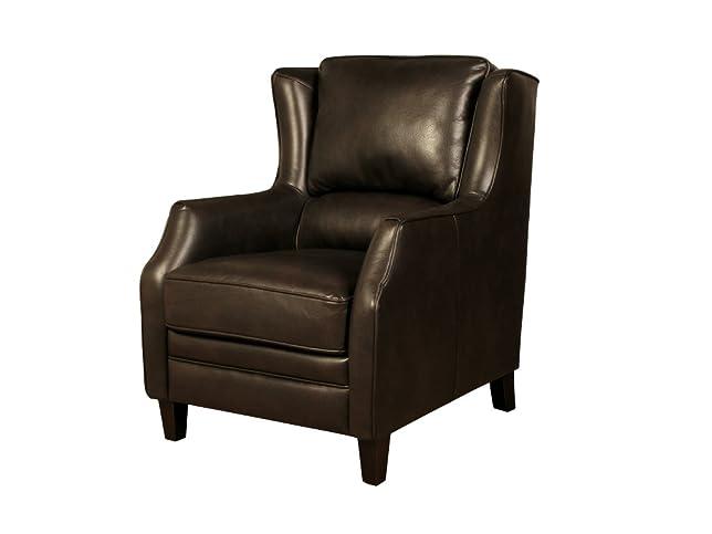 Eppleby poltrona schienale alto–pelle Air tessuto schienale alto poltrona marrone–colore: marrone scuro–salotto