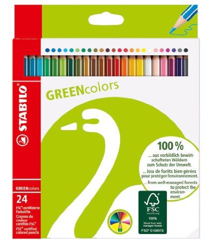 stabilo-6019-2-24-greencolors-matite-colorate-25-mm-confezione-da-24