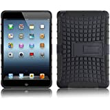 iPad Mini Case - ALLIGATOR Heavy Duty Back Cover for iPad Mini 3, iPad Mini 2 (With Retina Display) and iPad Mini 1st Generation, Black