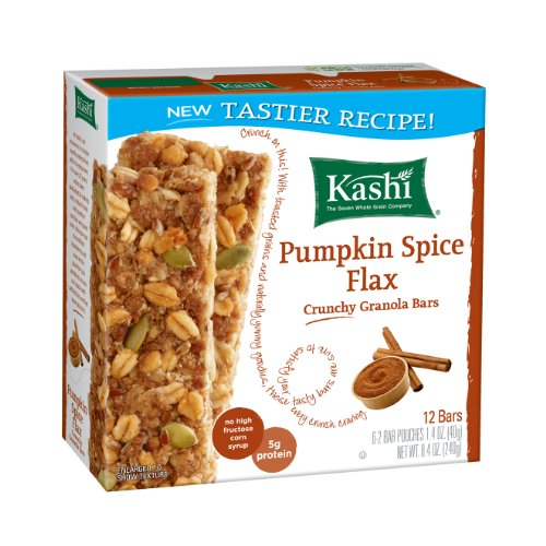 Kashi Tlc Crunchy Granola Bar, Pumpkin Spice Flax, 8.4 Oz. Packages (Pack Of 12)