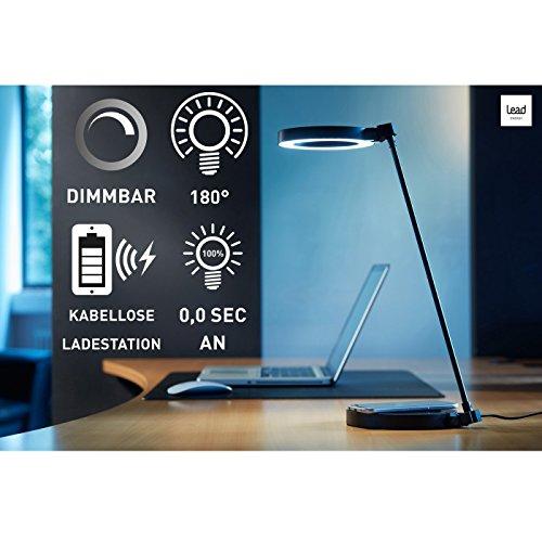 LEAD-DLW-9W-Schreibtischlampe-LED-Tischleuchte-5-Stufen-dimmbar-mit-eingebauter-Qi-Ladestation-zum-Aufladen-von-Smartphones-rund-schwarz-modern