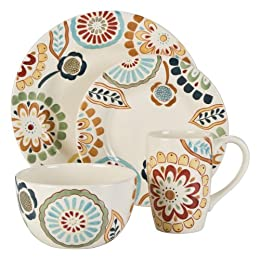 Zinnia Round 16-pc. Dinnerware Set