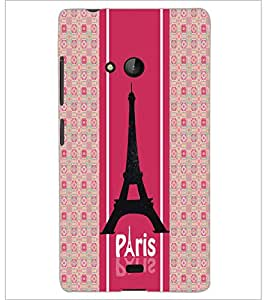 PrintDhaba Tower D-6051 Back Case Cover for MICROSOFT LUMIA 540 (Multi-Coloured)