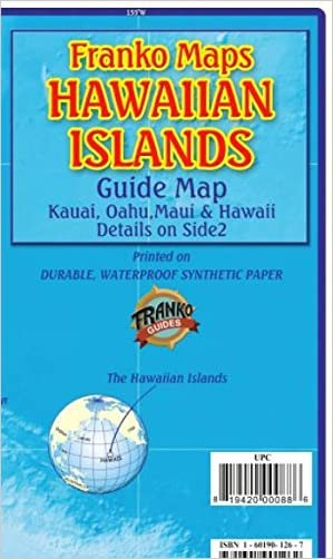 Hawaiian Islands Guide Kauai Maui Hawaii Oahu Franko Maps Waterproof Map