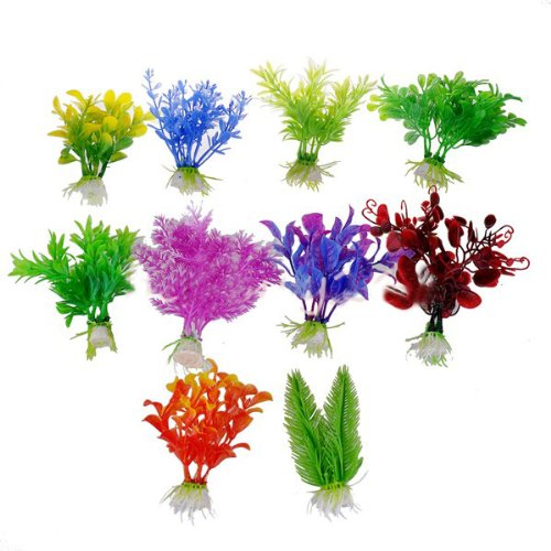 10-X-Kunststoff-knstliche-Pflanze-Aquarium-Ornament-Aquarium-Dekoration