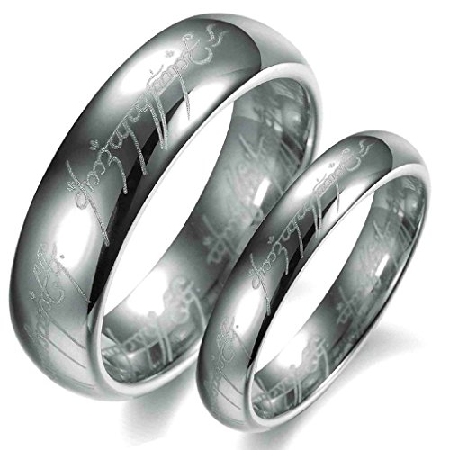 Gnzoe Jewelry, Stainless Steel Wedding Bands Silver Lord Ring Size 14 Ring For Men
