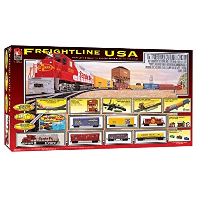 Amazon.com: Life Like Freightline USA Electric Train Set