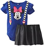Disney Baby Baby-Girls Newborn Blue Minnie Mouse 2 Piece Skirt Set