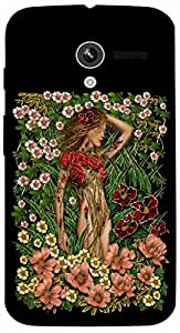 Timpax Protective Hard Back Case Cover With Easy access to all ports Printed Design : A girl covered with roses.Exactly Design For : Motorola Moto-X ( 1st Gen )