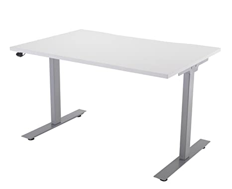 Rainbow Zebra Height Adjustable Desk with Silver Frame (120cm)