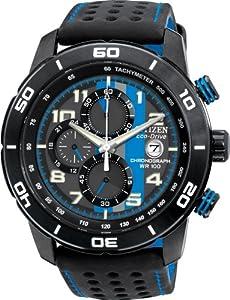 Citizen #CA0467-03E Men's Eco Drive Primo Leather Band Chronograph Watch