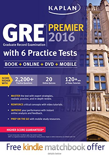 GRE® Premier 2016 with 6 Practice Tests