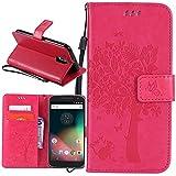 Dooki, Moto G4 / G4 Plus Coque, Supporter Flip PU Cuir Pochette Portefeuille Housse Coque Etui pour Motorola Moto G4 / G4 Plus avec Crédit Carte Tenant Fente (I-01)