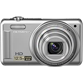 Olympus VR-320 228140 14 MP Digital Camera with Super-Wide 12.5x Zoom and 3.0-Inch LCD (Silver)