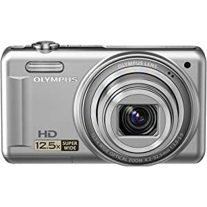"""Olympus VR-320  14 MP Digital Camera with 12.5x Optical Zoom and 3"""" LCD (Silver) (Old Model)"""
