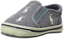 Ralph Lauren Layette Bal Harbour Repeat Slip On (Infant/Toddler), Blue Jersey, 0 M US Infant