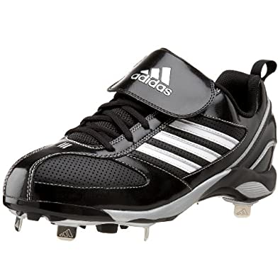 adidas Men's Diamond King 9 Metal Baseball Cleat,Black/White/Silver,7.5 M