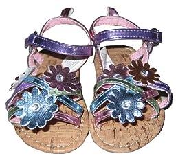 Infant Toddler Pastel Color Flower Straps Sandal - 6-9 Months [3010]