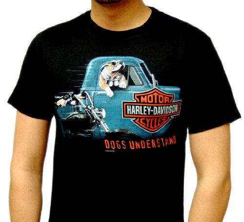 Harley-Davidson Mens Hangin Dog Black Short Sleeve T-Shirt (X-Large)