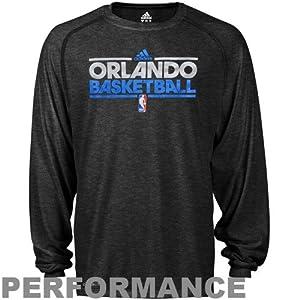 NBA adidas Orlando Magic Youth Pre-Game Performance Long Sleeve T-Shirt - Black by adidas